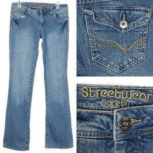 STREETWEAR SOCIETY Flare Jeans Mid Rise Stretch